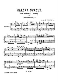 Турецкий марш: Для фортепиано (с аппликатурой) by Людвиг ван Бетховен