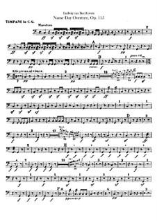 An Minna, WoO 115: Партия литавр by Людвиг ван Бетховен