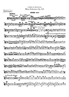 Missa Solemnis, Op.123: Партии тромбонов by Людвиг ван Бетховен