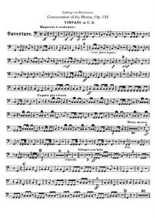 Освящение дома, Op.124: Партия литавр by Людвиг ван Бетховен