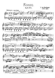 Два рондо для фортепиано, Op.51: Рондо No.1 (с аппликатурой) by Людвиг ван Бетховен