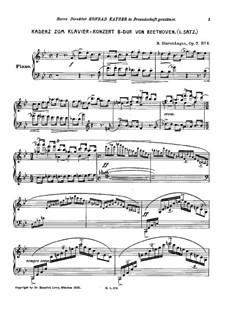 Каденция к Концерту для фортепиано с оркестром No.2 Бетховена, Op.7 No.1: Каденция к Концерту для фортепиано с оркестром No.2 Бетховена by Бернхард Ставенхаген