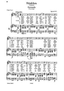 Романсы и песни, Op.14: No.7 Серенада by Иоганнес Брамс
