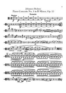 Концерт для фортепиано с оркестром No.1 ре минор, Op.15: Партия альта by Иоганнес Брамс