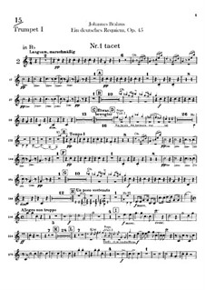 Немецкий реквием, Op.45: Партии труб by Иоганнес Брамс