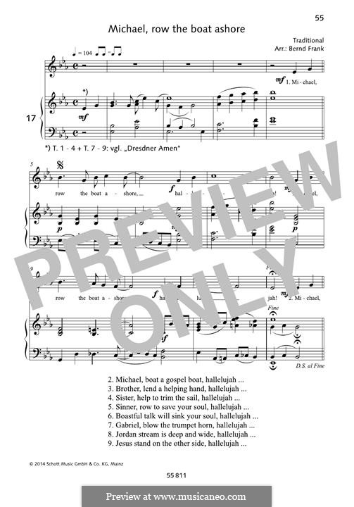 Michael Row the Boat Ashore: Для голоса и фортепиано by folklore