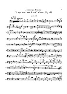 Симфония No.1 до минор, Op.68: Партия литавр by Иоганнес Брамс