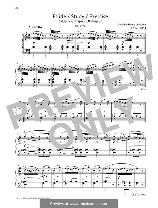 Этюды, Op.37: No.6 Study C major by Анри Лемуан