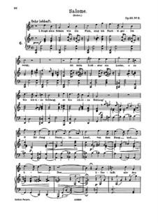 Девять песен и романсов, Op.69: No.8 Salome by Иоганнес Брамс