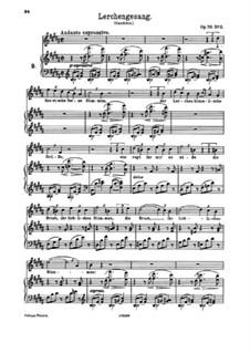 Четыре песни, Op.70: No.2 Song of the Larks by Иоганнес Брамс