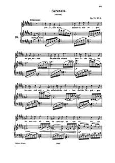 Четыре песни, Op.70: No.3 Серенада by Иоганнес Брамс