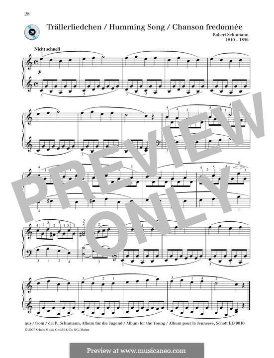 No.3 Песенка: Для фортепиано by Роберт Шуман