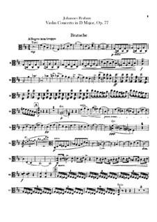 Концерт для скрипки с оркестром ре мажор, Op.77: Партия альта by Иоганнес Брамс