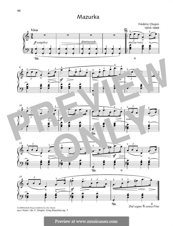 Mazurka in G major: Mazurka in G major by Фредерик Шопен