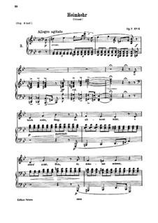 Шесть песен, Op.7: No.6 Heimkehr (Homecoming) by Иоганнес Брамс