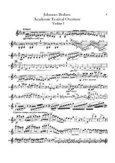 Академическая фестивальная увертюра, Op.80: Партии скрипок by Иоганнес Брамс