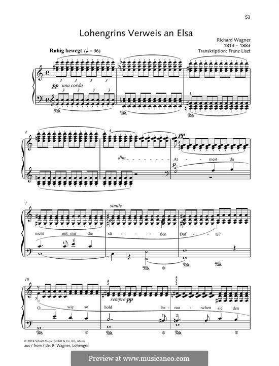 Фрагменты: Lohengrins Verweis an Elsa by Рихард Вагнер