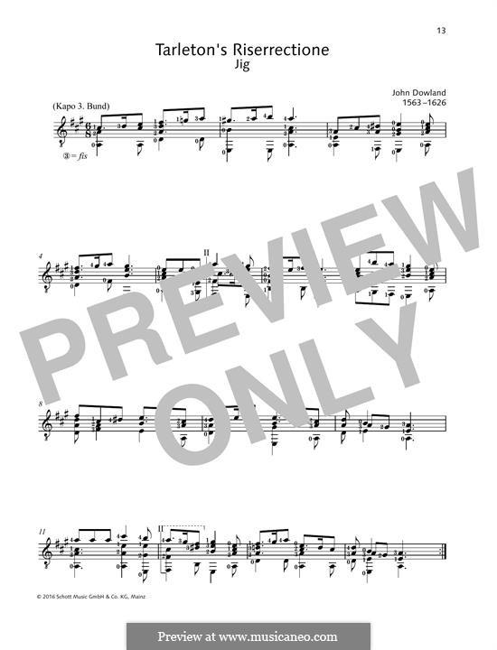 Tarlenton's Ressurection: Для гитары by Джон Доуленд