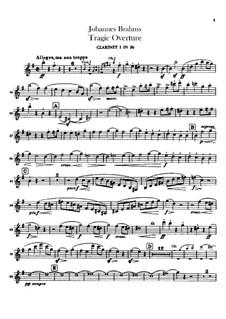 Трагическая увертюра, Op.81: Партии кларнетов by Иоганнес Брамс