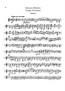 Трагическая увертюра, Op.81: Скрипка II by Иоганнес Брамс
