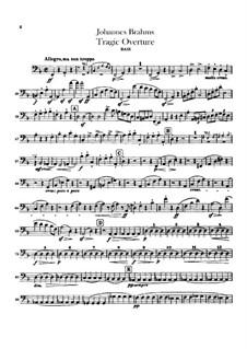 Трагическая увертюра, Op.81: Партия контрабаса by Иоганнес Брамс