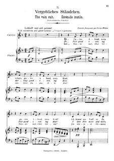 Романсы и песни, Op.84: No.4 Напрасная серенада by Иоганнес Брамс