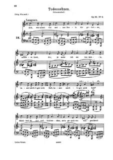 Шесть песен, Op.86: No.6 Todessehnen (Longing for Death) by Иоганнес Брамс