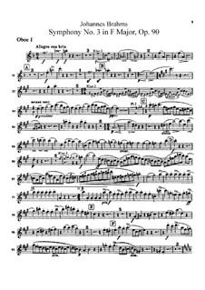 Все части: Партии гобоев by Иоганнес Брамс