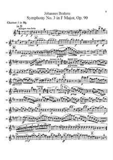 Все части: Партии кларнетов in B by Иоганнес Брамс