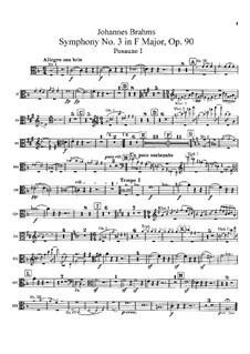 Все части: Партии тромбонов by Иоганнес Брамс