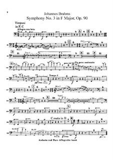 Все части: Партия литавр by Иоганнес Брамс