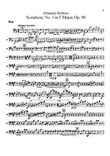 Все части: Партия контрабаса by Иоганнес Брамс