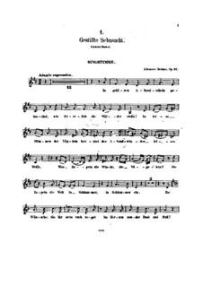 Две песни для голоса, альта и фортепиано, Op.91: Партитура, сольная партия by Иоганнес Брамс