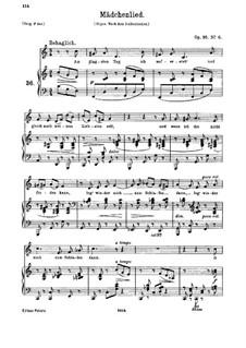 Семь песен, Op.95: Nr.6 Mädchenlied by Иоганнес Брамс