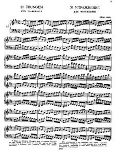 Пятьдесят однo упражнение для фортепиано, WoO 6: Сборник by Иоганнес Брамс