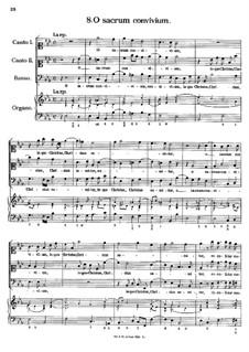 Eight Motets: No.8 O Sacrum convivium by Антонио Кальдара