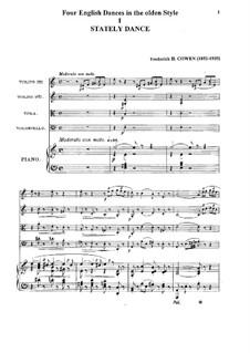 Четыре английских танца в старинном стиле: Четыре английских танца в старинном стиле by Frederic Hymen Cowen