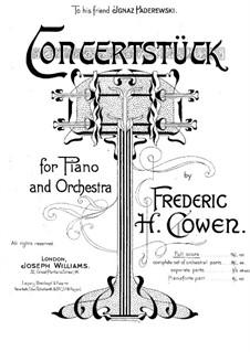 Концертная пьеса для фортепиано с оркестром: Клавир by Frederic Hymen Cowen