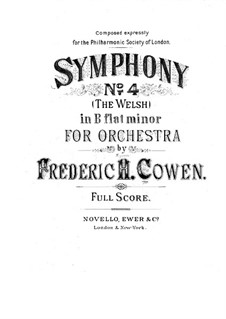 Симфония No.4 си-бемоль минор: Симфония No.4 си-бемоль минор by Frederic Hymen Cowen