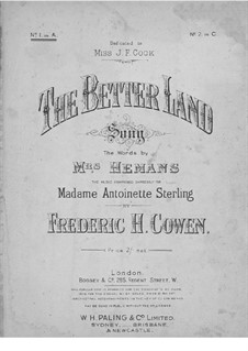 The Better Land: Ля мажор by Frederic Hymen Cowen