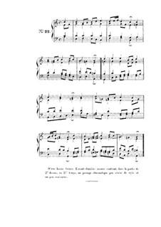 Choix de chorals: Choral No.22 by Иоганн Себастьян Бах