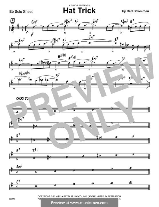 Hat Trick: Eb Solo Sheet part by Carl Strommen