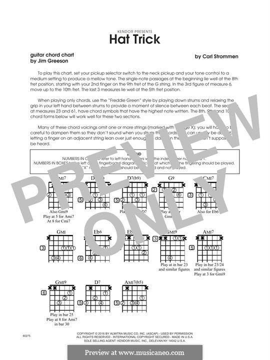 Hat Trick: Guitar Chord Chart by Carl Strommen