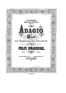 Адажио для валторны и фортепиано, Op.31: Адажио для валторны и фортепиано by Феликс Дрезеке