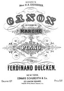 Canon en forme de marche (Canon shaped March) for Piano, Op.127: Canon en forme de marche (Canon shaped March) for Piano by Фердинанд Далкин