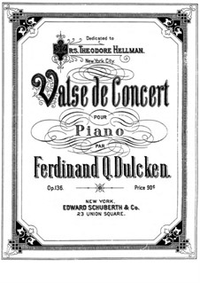 Концертный вальс для фортепиано, Op.136: Концертный вальс для фортепиано by Фердинанд Далкин