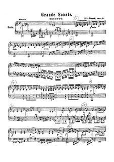 Большая соната для фортепиано в четыре руки, Op.48 Craw 186: Большая соната для фортепиано в четыре руки by Ян Ладислав Дуссек