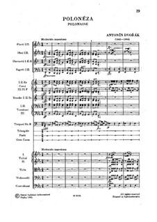 Полонез ми-бемоль мажор, B.100: Полонез ми-бемоль мажор by Антонин Дворжак
