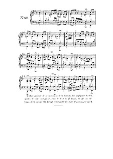 Choix de chorals: Choral No.47 by Иоганн Себастьян Бах