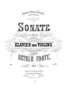 Соната для скрипки и фортепиано, Op.20: Партитура by Артур Фут